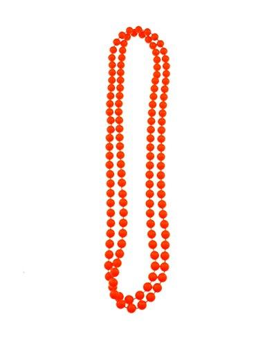 Sofias Closet Farbe Plastik Perlenkette Mardi Gras Neon Helle Rave Gold Silber Perlen Schmuck - Damen, Orange, Einheitsgröße (Perlen Silber Gras Mardi)