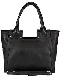 BELUCIA CICCIANO Bag, Sac d'épaule, véritable cuir de veau de grain, Couleur - Noir, Retours gratuits de France