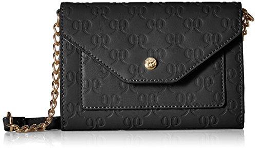 Nine West Damen Umhängetasche, Handtasche, Black Embossed S, Einheitsgröße -
