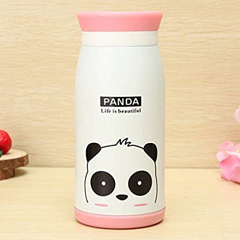 Gearmax® Cartoon Thermos Cup Bottle Stainless Steel Thermo cup Vacuum Thermal Mug 350ml(Bianco)