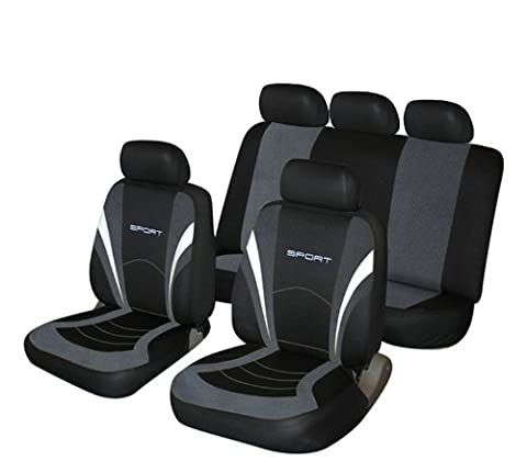 Cosmos 1 Grey And Black Sports Style Car Seat Covers