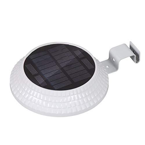 Dicomi 12 LED Licht Solarbetriebene Garten Leuchte im Freien Hof Wandzaun Lampe Induktionslicht Wandleuchte Runde Weiß