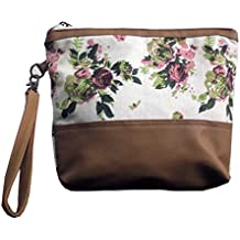 Dekor World Blue Rose Cotton Printed Multi Utility Pouch (Pack of 1)