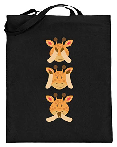 Chorchester Ideal für Giraffen und Tier Fans - Jutebeutel (mit langen Henkeln) (Giraffe Mit Langem Hals Kostüm)