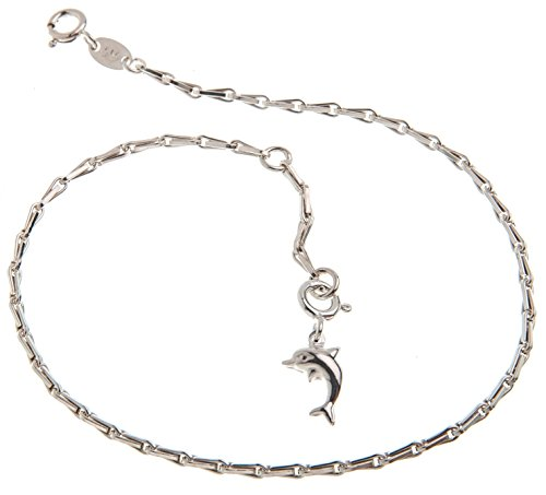 Base collana con ciondolo forma di delfino 2 larghezza lunghezza scelta 23 30 viennagold 925 argento