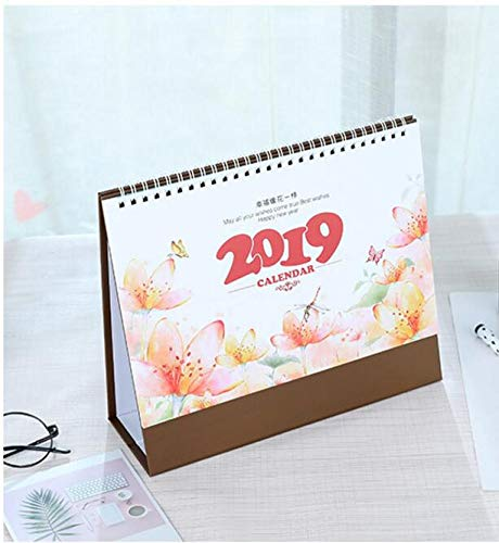 Download 2019Dessin animé Floral Petite Fresh Calendrier de bureau Calendrier de planification de Programmer de table 20.5x24.5cm Color B