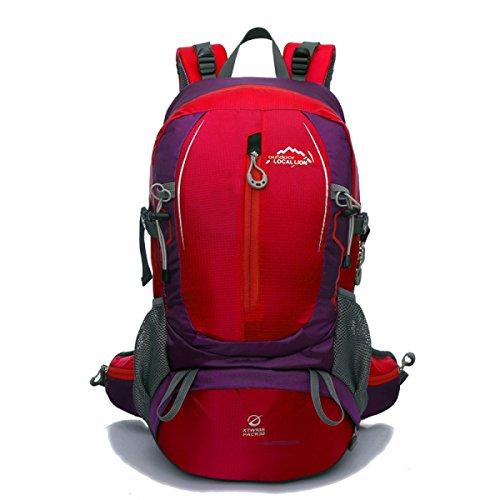 Neu Bergsteigen Nylon Rucksack Mode Sport Reisen Tasche 40L Red