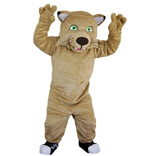 (Langteng Beige Tiger Löwe Leopard Wild Cat Cartoon Maskottchen Kostüm Echt Bild 15–20Tage Marke)