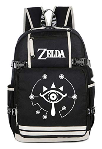 Cosstars The Legend of Zelda Backpack Schultasche Student Laptoprucksack Rucksack mit USB-Ladeanschluss /2