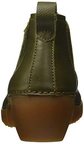 El Naturalista Damen Nc70 Soft Grain Kaki/ Tricot Chelsea Boots Grün (KAKI N22)