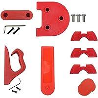 Lovejoy Store Juego de Accesorios para Patinete, Gancho para Damping, Soporte de pie Fender Gasket, Pantalla de Silicona para Xiaomi Mijia M365 Scooter, Rojo