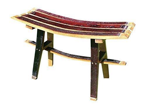 Realizzata a mano in legno di quercia, con fusto in legno Whisky unico sedile a panchina da