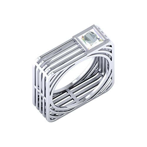 Dare By Voylla 92.5 Sterling Silver Square Ring Men