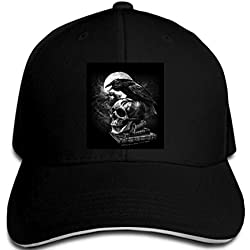 Funny Baseball Caps Raven Fantasy Skull Magic Pagan Biker Rock Goth Cap Men