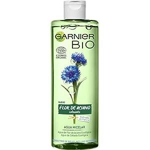 Garnier BIO Agua Micelar con Agua de Flor de Aciano y Cebada Ecológicas, para Rostro, Ojos y Labios, apta para Pieles…