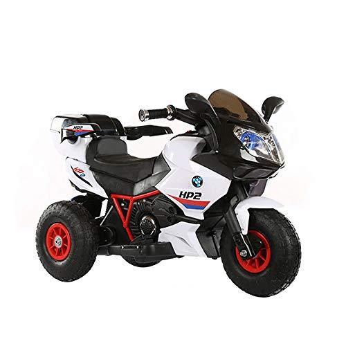 uf Spielzeugauto Kinder Motorrad Motorrad Elektroroller Motor Fahrrad 6 V Batteriebetriebenes Spielzeug Trike Boy Lade Fernbedienung Dreirad (Color : Remote Control White) ()