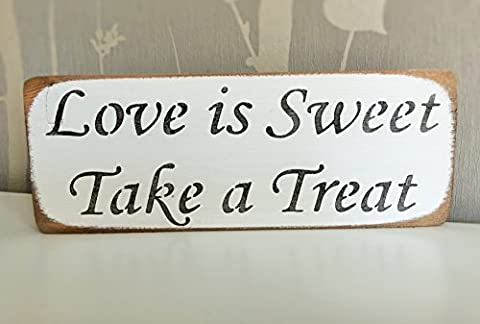 LOVE IS SWEET PLEASE TAKE A TREAT - Wedding Candy