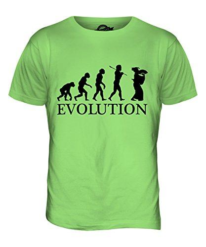 CandyMix Geisha Evolution Des Menschen Herren T Shirt, Größe 2X-Large, Farbe (Perücke Lime Grün)