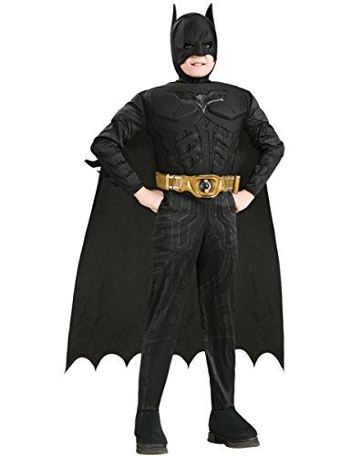 ises - Kinderkostüm mit Muskeln, 4-teilig, günstiges Fasching Comic Kostüm - S (Batman Dark Knight Kind Kostüme)