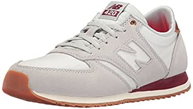 new balance Women's 420 Silver and Mink Leather Running Shoes - 3 UK/India (35 EU) (5 US)