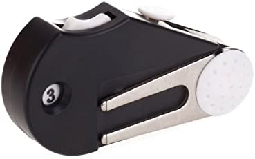 Generic 5-in-1 Pocket Golf Multi-functional Tool Kit Divot Tool / Groove Cleaner / Brush / Ball Marker / Score Counter