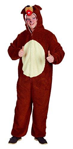 Tierkostüm Bello Overall mit Kapuze 1-tlg. Unisex Kostüm Hund (54/56) -
