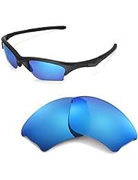 852584af663 Walleva Replacement Lenses Or Lenses Rubber Kit for Oakley Half Jacket XLJ  Sunglasses - 41