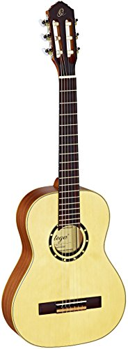 Ortega Guitars R121-1/2 Konzertgitarre in 1/2 Größe natur im seidenmatten Finish mit hochwertigem Gigbag