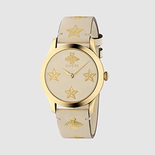 Reloj Gucci Unisex G-Timeless 38 mm Correa de Cuero de Caso pvd con Oro YA1264096