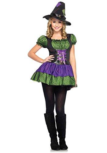 Leg Avenue J48034 - Jr. Hocus Pocus Kinderkostüm, Größe M/L (146-152) (Lila) (Hocus Pocus Halloween-kostüm)
