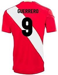 2018-2019 Peru Away Umbro Football Soccer T-Shirt Camiseta (Paolo Guerrero 9