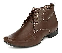 John Karsun Mens Brown High Top Shoes - 7 UK