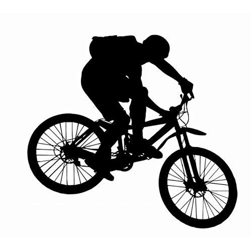 BRILLINT.YY Wandtattoo Wohnzimmer Große Mountainbike Aufkleber Junge Reiten Fahrrad Wandbild Kunst PVC Wandtattoo Fahrrad Shop Decor Schlafzimmer Dekoration 60X70Cm