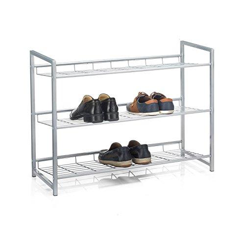 CARO-Möbel Schuhregal SYSTEM Schuhständer Schuhablage mit 3 Fächern für ca. 12 Paar Schuhe, 80...