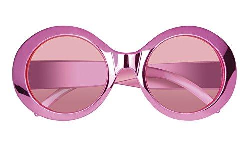 erdbeerloft - Oversizer Brille 70er Kostüm Sonnenbrille, (Frisuren Rosa Kostüm Damen)