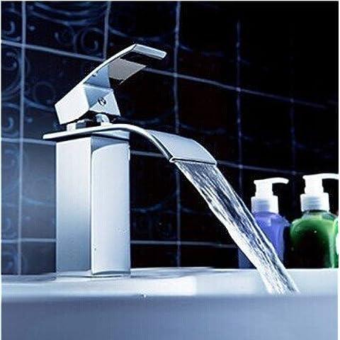 Furesnts casa moderna cucina e il lavandino del bagno rubinetti a caldo e a freddo Wash-Basin Miscelatore lavabo tutto il rame a caldo e a freddo il foro singolo rubinetto,(Standard G 1/2 tubo flessibile universale