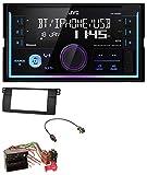 caraudio24 JVC KW-X830BT AUX 2DIN USB MP3 Bluetooth Autoradio für BMW 3er E46 Profiversion großem Navi Quadlock
