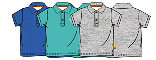 Steiff Baby-Jungen Poloshirt, Blau (Surf In The Web 6002), 86