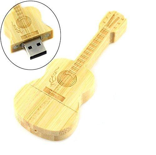 64GB Speicherstick USB 2.0 Memory Stick Holz Gitarre USB-Stick