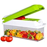 Deal Of The Day Discounted High Quality Plastic Multi Purpose Fruits, Vegetables & Salad Chopper Cutter With 2 Type Of Blades & 1 Cleaner (Color May Vary)