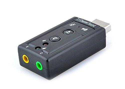 USB 2.0 Soundkarte 7.1 Adapter Audiokarte Sound Externe Neu #466