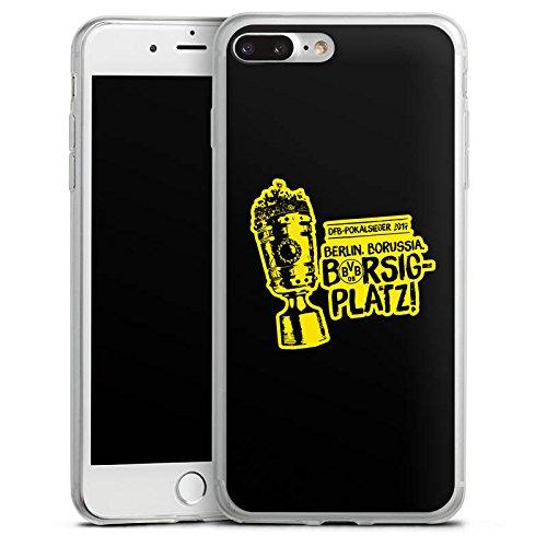 Apple iPhone 7 Plus Slim Case Silikon Hülle Schutzhülle Borussia Dortmund Pokalsieger BVB Silikon Slim Case transparent