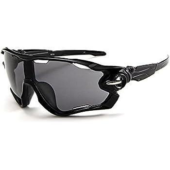Gafas de sol Deportivas de Ciclismo Moto (Negro) Forepin® pour Hombre et Mujer Polarizadas 100% Protección UV400 Unisex Clasico Ajustable Sunglasses para ...