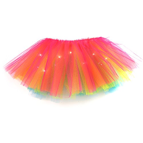 Skirts 13 Colors Child Girl Led Light Up El Wire Mini Tutu Skirt Ballet Dance Layered Candy Color Fancy Stage Puffy Tulle Pettiskirt Reliable Performance Girls' Baby Clothing
