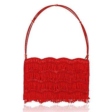 pwne Frauen Abend Beutel Polyester Alle Jahreszeiten Hochzeit Event / Party Formalzipper Schwarz Rot Grau Navy Blue Red