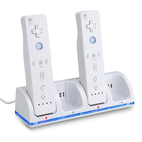Book's Cover of MP power  STATION CHARGEUR 4 Port 4 BATTERIE battery 2800mAh Pour Nintendo Wii WIIMOTE MANETTE REMOTE