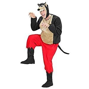 WIDMANN Desconocido 50951 - traje adulto del lobo, túnica acolchada, pantalones, la cobertura y el arnés paso lo mismo con la máscara, tamaño S