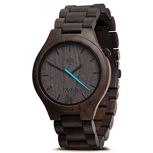 ZeiTime Damen Herren Holz-Armbanduhr komplett aus Sandelholz