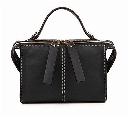 XinMaoYuan women's handbags, Borsa a spalla donna small, gray (grigio) - 7577898240748 Nero