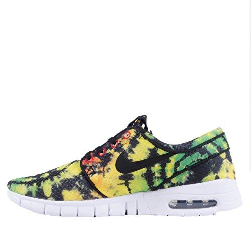 Nike Stefan Janoski Max Prm, Chaussures de Skate Homme Multicolore - Amarillo / Negro / Verde (Tour Yellow / Black-Green Pulse)